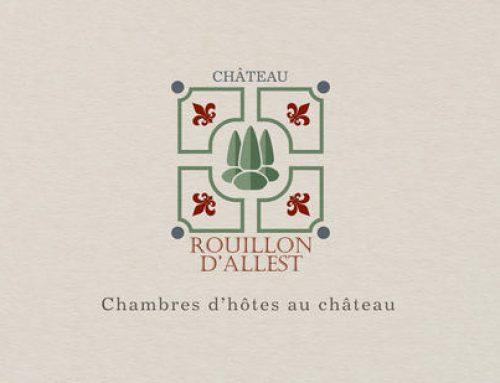Conception de logo pour une chambre d'hôtes au chateau de Rouillon